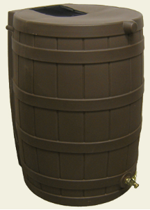 Rain Wise Oak Rain Barrel