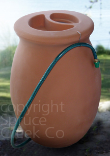 Terracotta Urn Rain Barrel