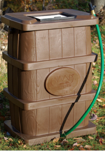 Slatted-Relief Rectangular Rain Barrel
